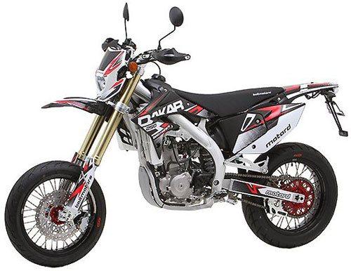 Обзор левой стороны мотоцикла Dakar 250 M (Motard)