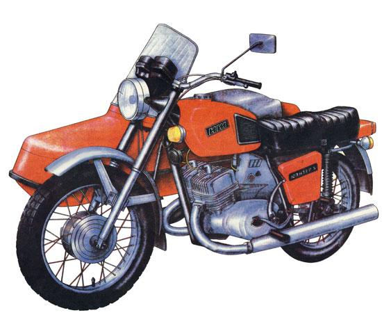Мотоцикл ИЖ Юпитер-5 с каляской